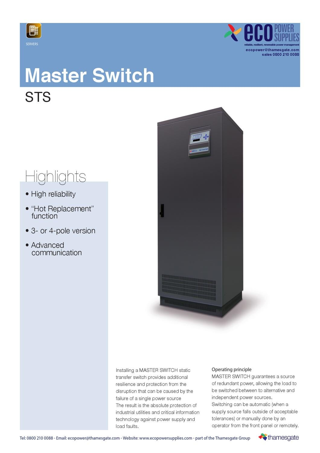 Riello Master Switch Transfer Switches Sts By Ecopower Supplies Issuu Ups Circuit Diagram