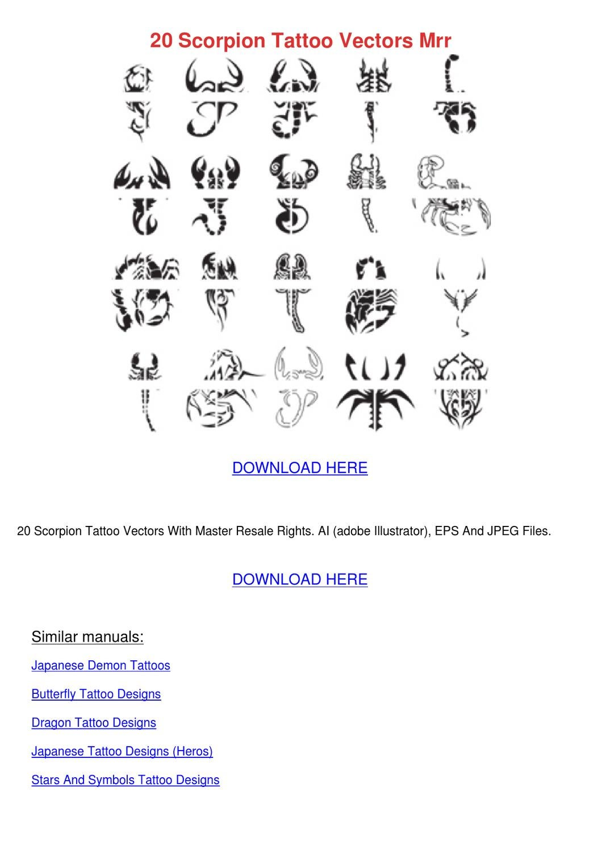 20 Scorpion Tattoo Vectors Mrr by Jone Zak - issuu