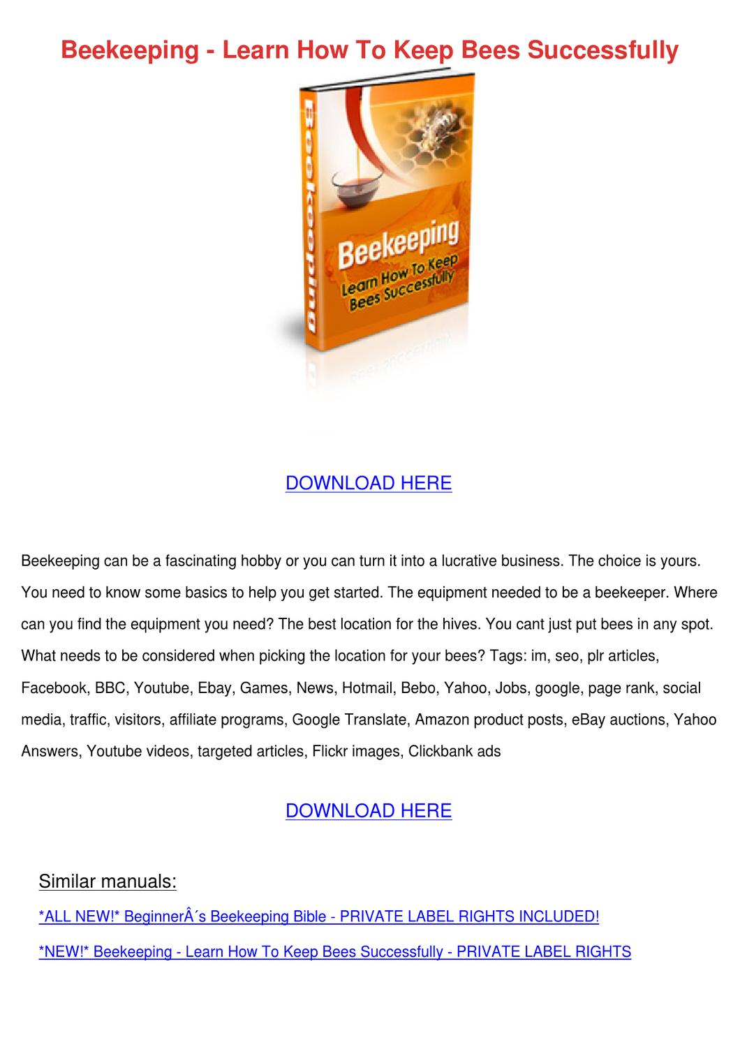 pdf how to keep bees