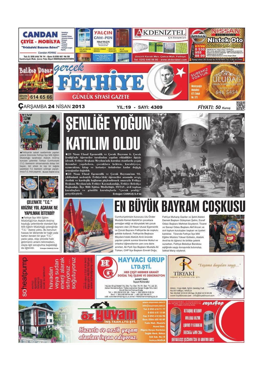 24 Nisan By Gercek Fethiye Issuu