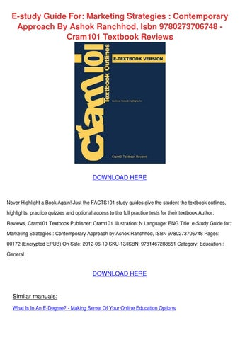 Principles of Marketing Exam – CLEP – The College Board