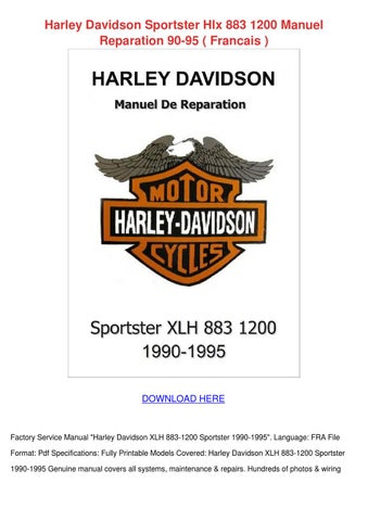 Harley Davidson Sportster Hlx 883 1200 Manuel by Shakita