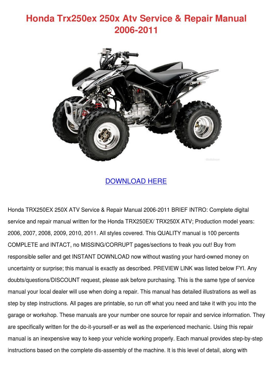 honda atv repair manual pdf