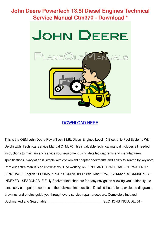John Deere Powertech 135l Diesel Engines Tech by John JohnChimento - issuu