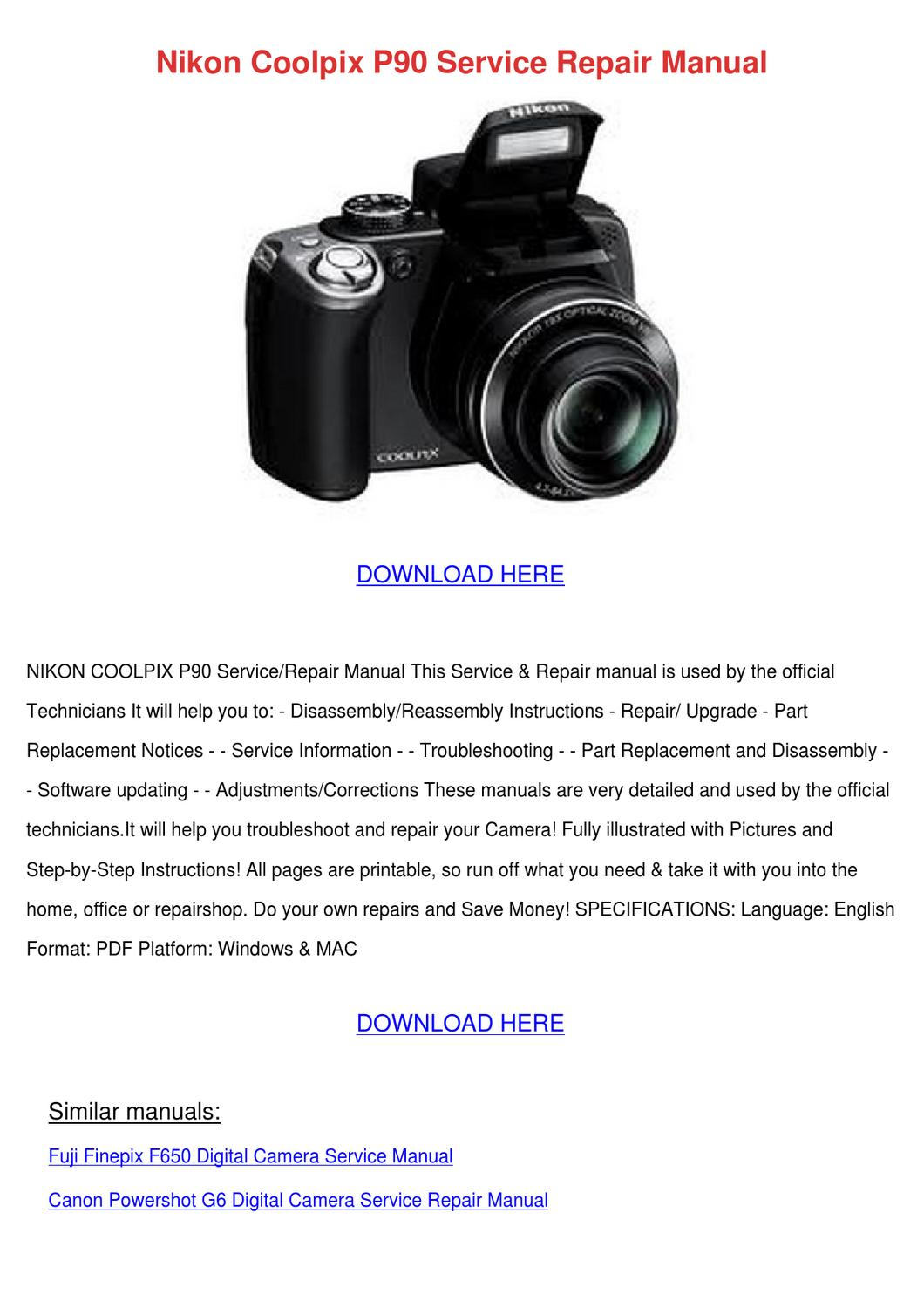 Nikon Coolpix P90 Service Repair Manual by John JohnChimento - issuu