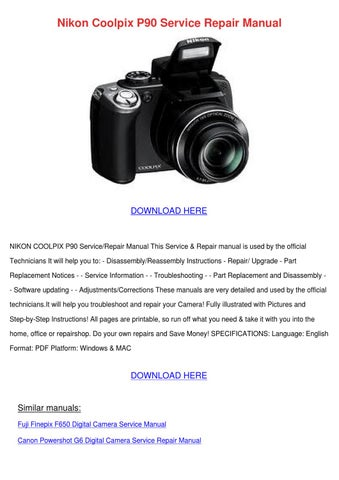 nikon coolpix p90 service repair manual by john johnchimento issuu Canon G6 Review Canon G6 Military