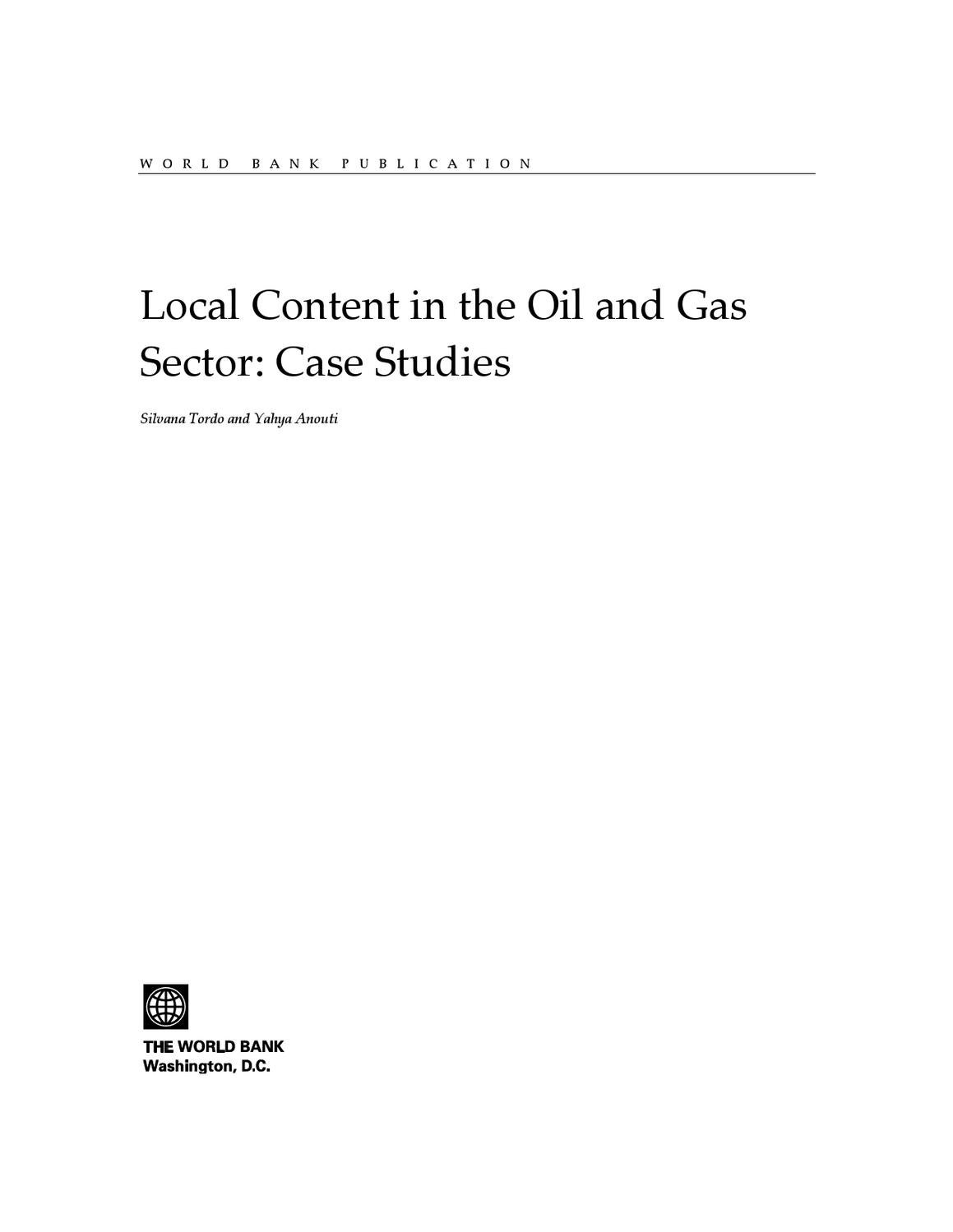 Local Content Policies In The Oil And Gas Sector By World Bank 8099 Blue Sea Ac Main 4 Positions Toggle Circuit Breaker Panel White Publications Issuu