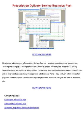 pharmacy shop business plan pdf
