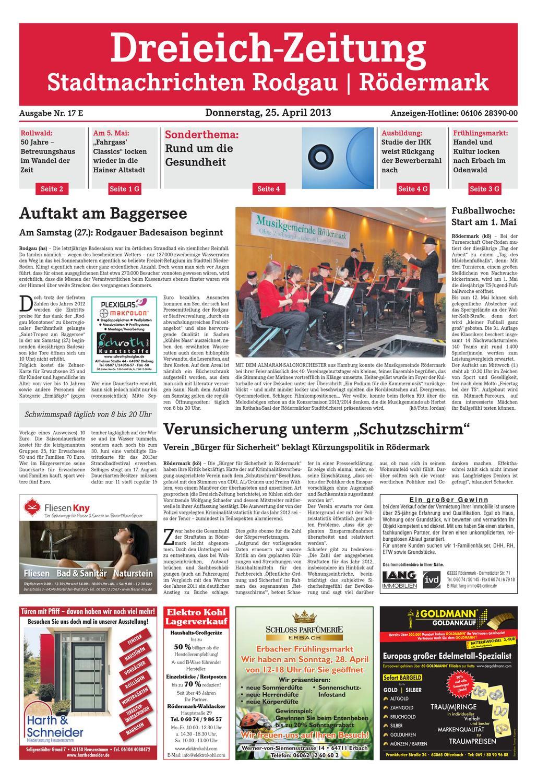 Dz Online 017 13 E By Dreieich Zeitung Offenbach Journal Issuu
