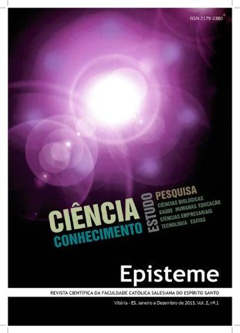 EPISTEME Revista Científica da Faculdade Católica Salesiana do Espírito  Santo Diretor Geral Pe. Oscar de Faria Campos Diretor Executivo Dr. Jolmar  Luis ... d41a5664a3