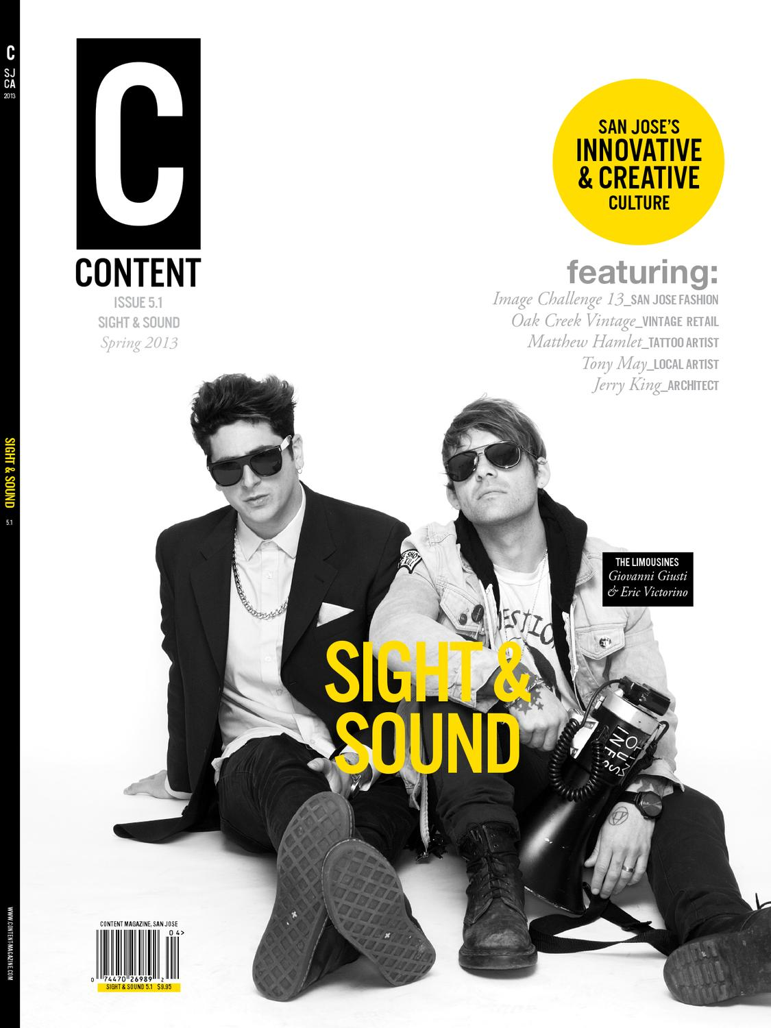 Sight and Sound Issue 5.1 by Content Magazine - issuu