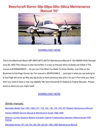 Beechcraft Baron manual download