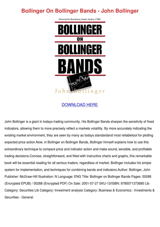 Bollinger bands john bollinger pdf