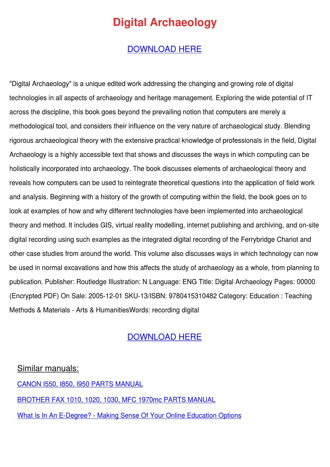 archaeology of the digital pdf