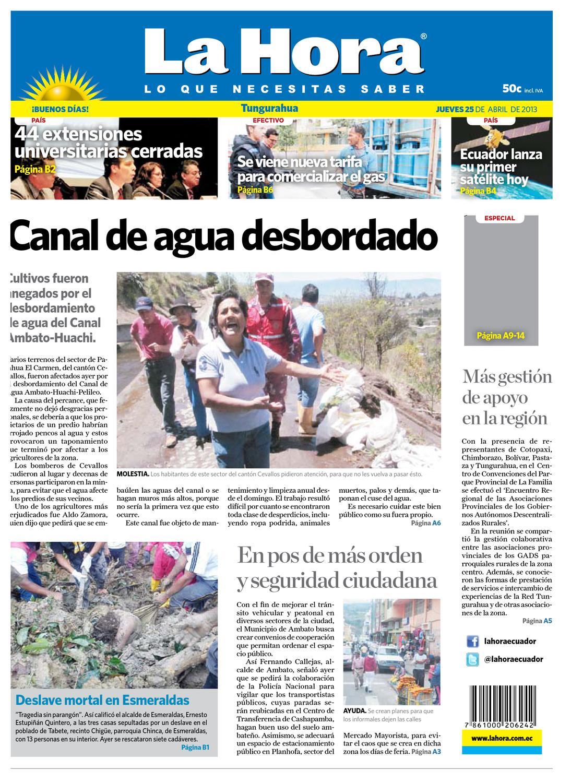 07c5f71e2e8c1 TungurahuaDiarioLaHora25-04-2013 by Diario La Hora Ecuador - issuu