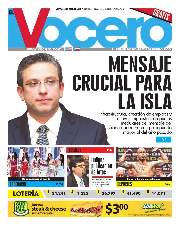 6d0c126ec52a9 Edición 25 de Abril 2013 by El Vocero de Puerto Rico - issuu