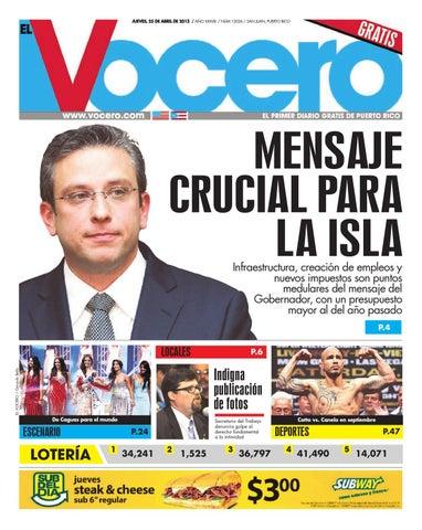 Edición 25 de Abril 2013 by El Vocero de Puerto Rico - issuu d905cba0528