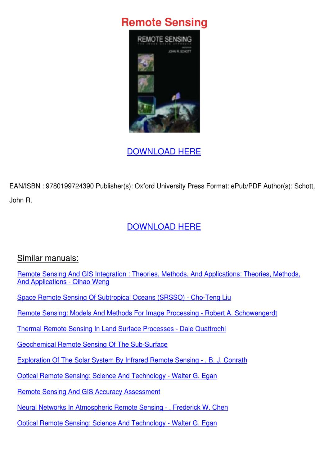 Remote Sensing By Robert Dobrin Issuu border=