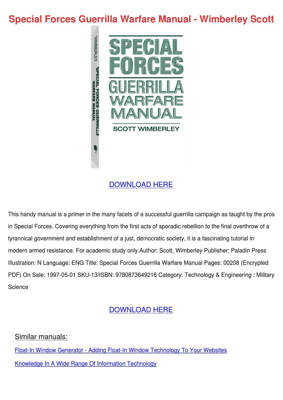 Pdf guerrilla warfare