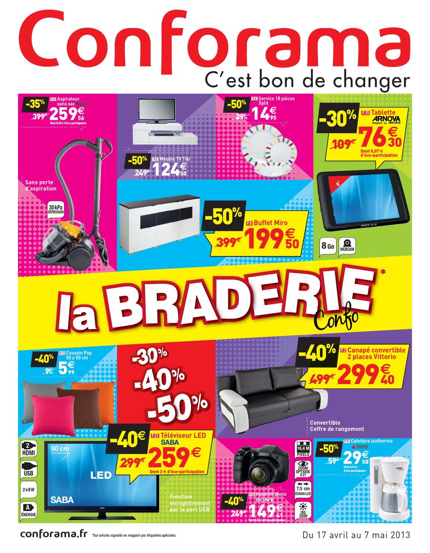 Conforama catalogue 17 avril 7 mai 2013 by promocatalogues for Cadorama catalogue