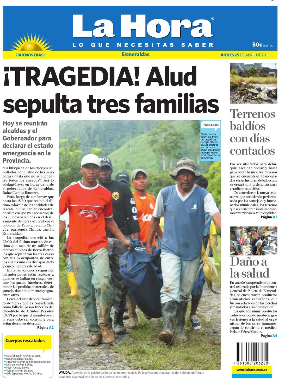 Edici N Impresa Esmeraldas Del 25 De Abril De 2013 By Diario La  # Hassan Muebles Gavilan