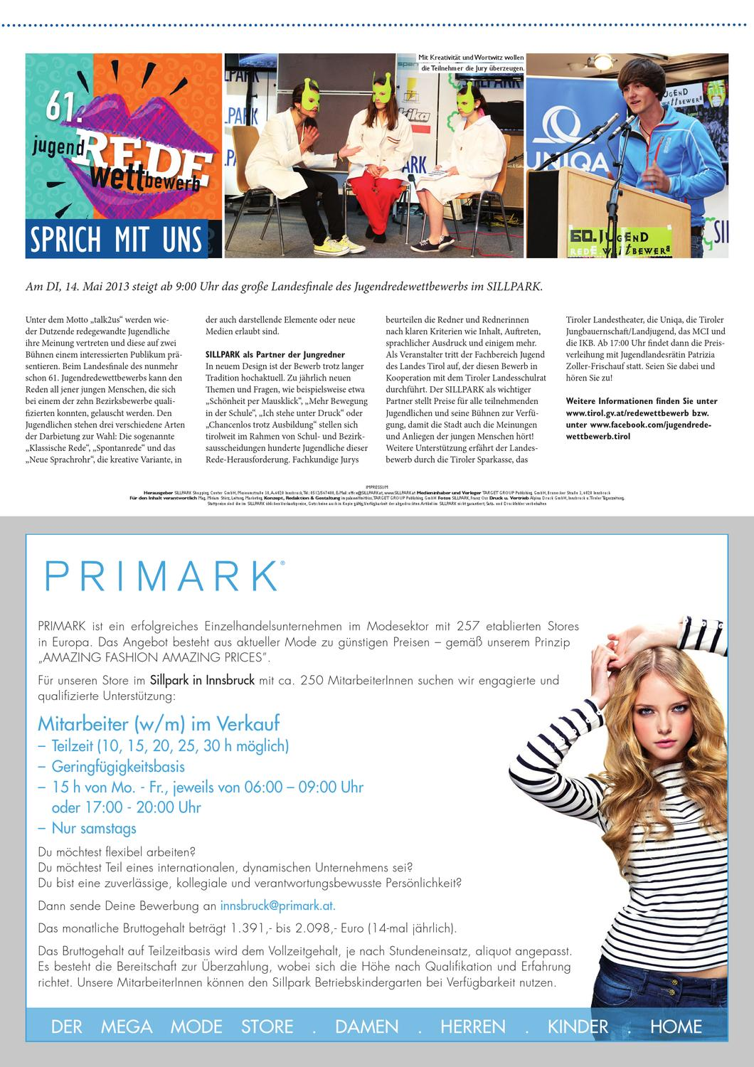 next mai 2013 by target group publishing gmbh issuu - Primark Bewerbung