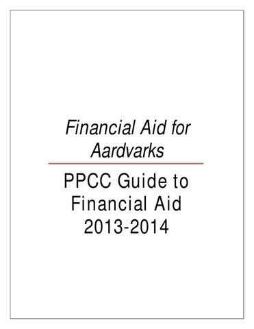 Ppcc Campus Map.Ppcc Guide To Financial Aid By Pikes Peak Community College Issuu
