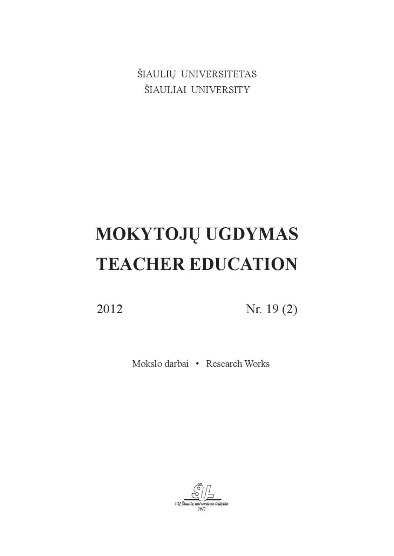 Mokytoj Ugdymas 2012 19 2 By Mokytoj Ugdymas Teacher