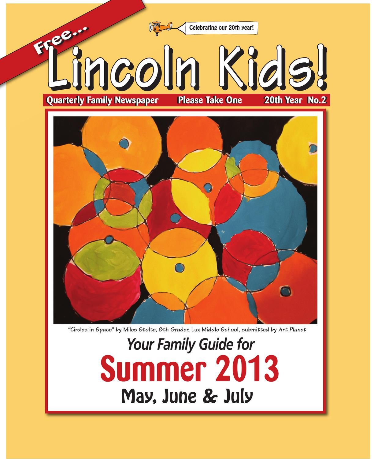 Lincoln Kids Newspaper Summer 2013 Issue By