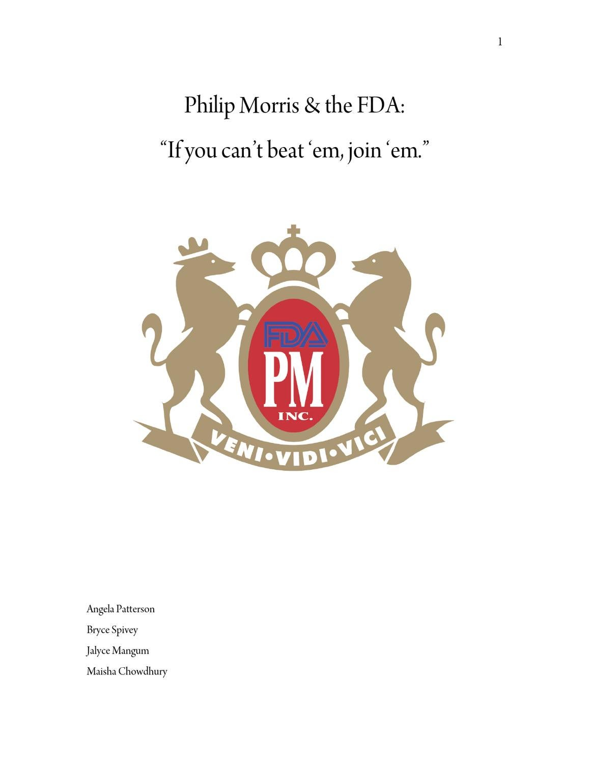 Philip Morris Case Study By Bryce Spivey Issuu