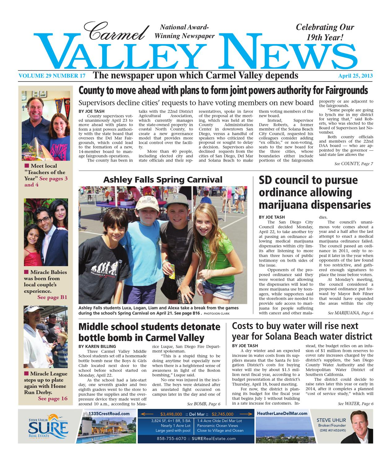 28e4c0d12 Carmel Valley News 4.25.13 by MainStreet Media - issuu