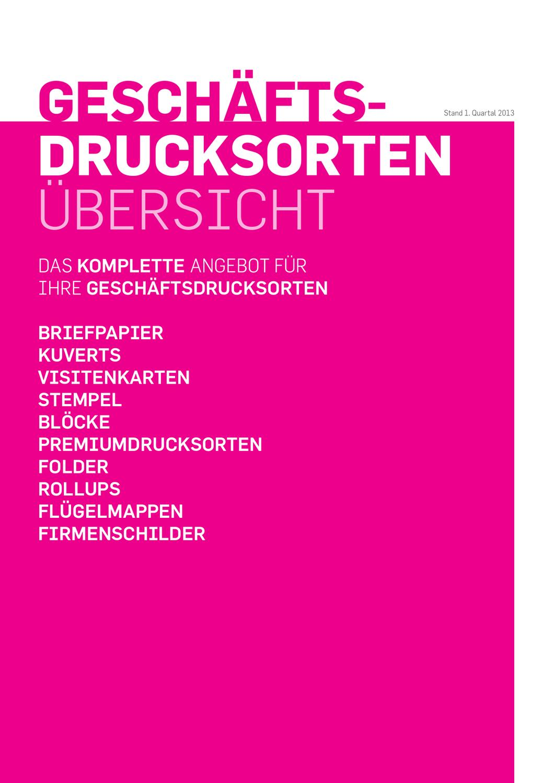 Geschäftsdrucksortenkatalog By Wolfgang Raab Issuu
