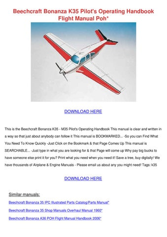 beechcraft bonanza k35 pilots operating handb by kattie macedonio rh issuu com Beech Bonanza A36 Cockpit Beech Bonanza A36 Cockpit