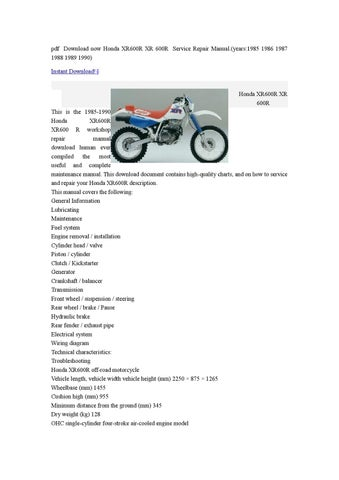 Page Thumb Large on 1986 Honda Xr600r Wiring Diagram