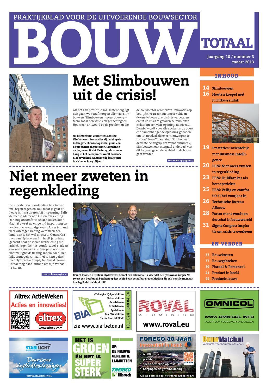 bouwtotaal maart 2013 by nederlandse handelsuitgaven bv issuu