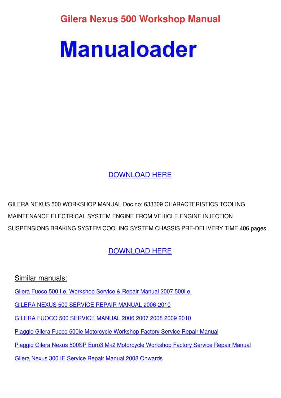 ... Array - gilera nexus 500 workshop manual by janay grogan issuu rh issuu  ...