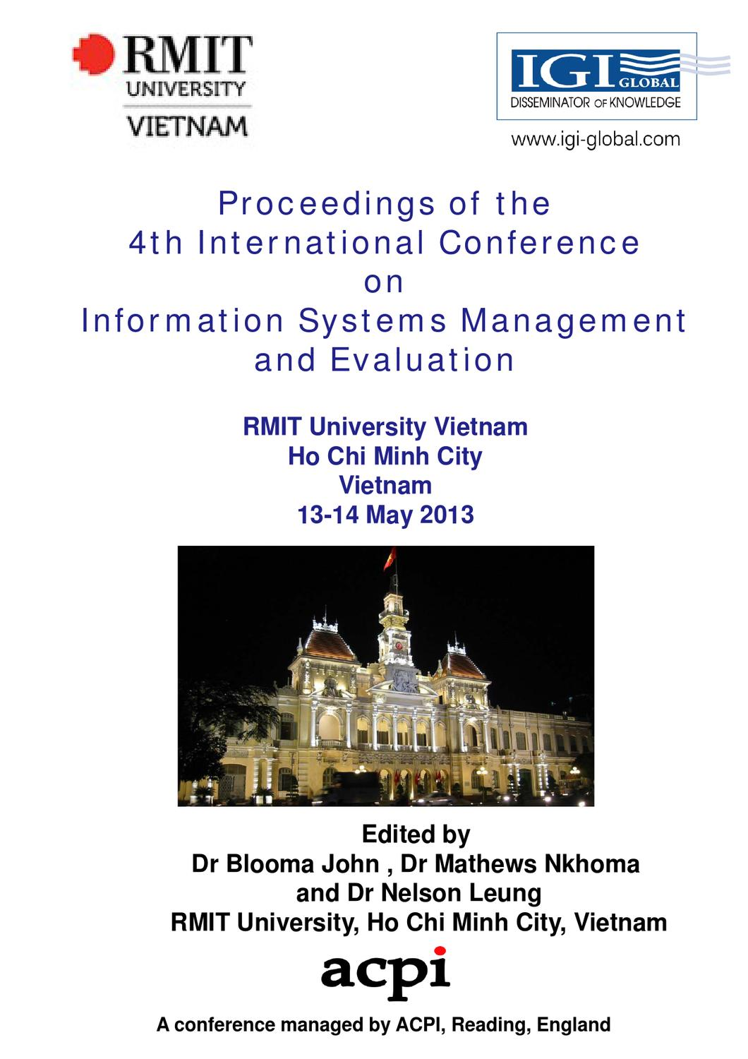 Icime 2013 proceedings of the 4th international conference on is icime 2013 proceedings of the 4th international conference on is management and evaluation by acpil issuu fandeluxe Gallery