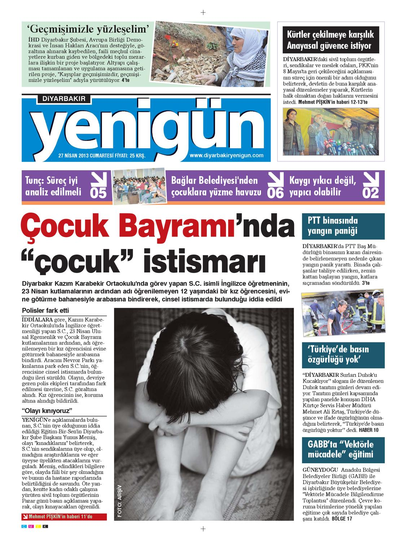 Diyarbakir Yenigun Gazetesi 27 Nisan 2013 By Osman Ergun Issuu
