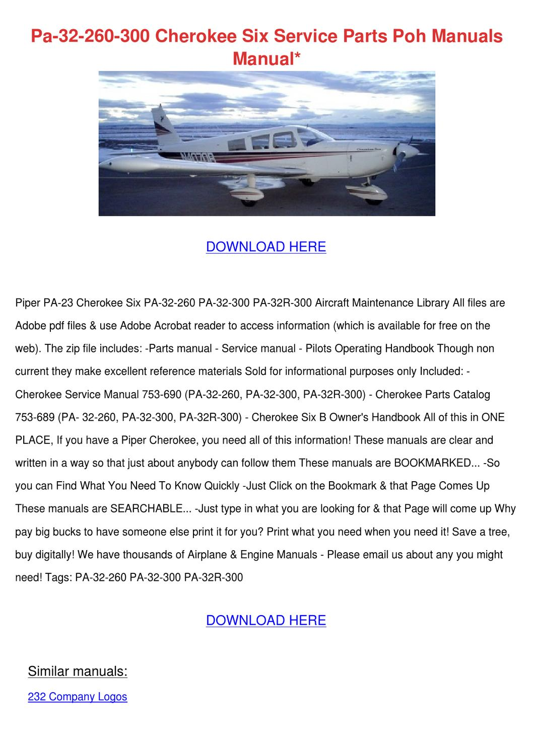 piper comanche manual ebook