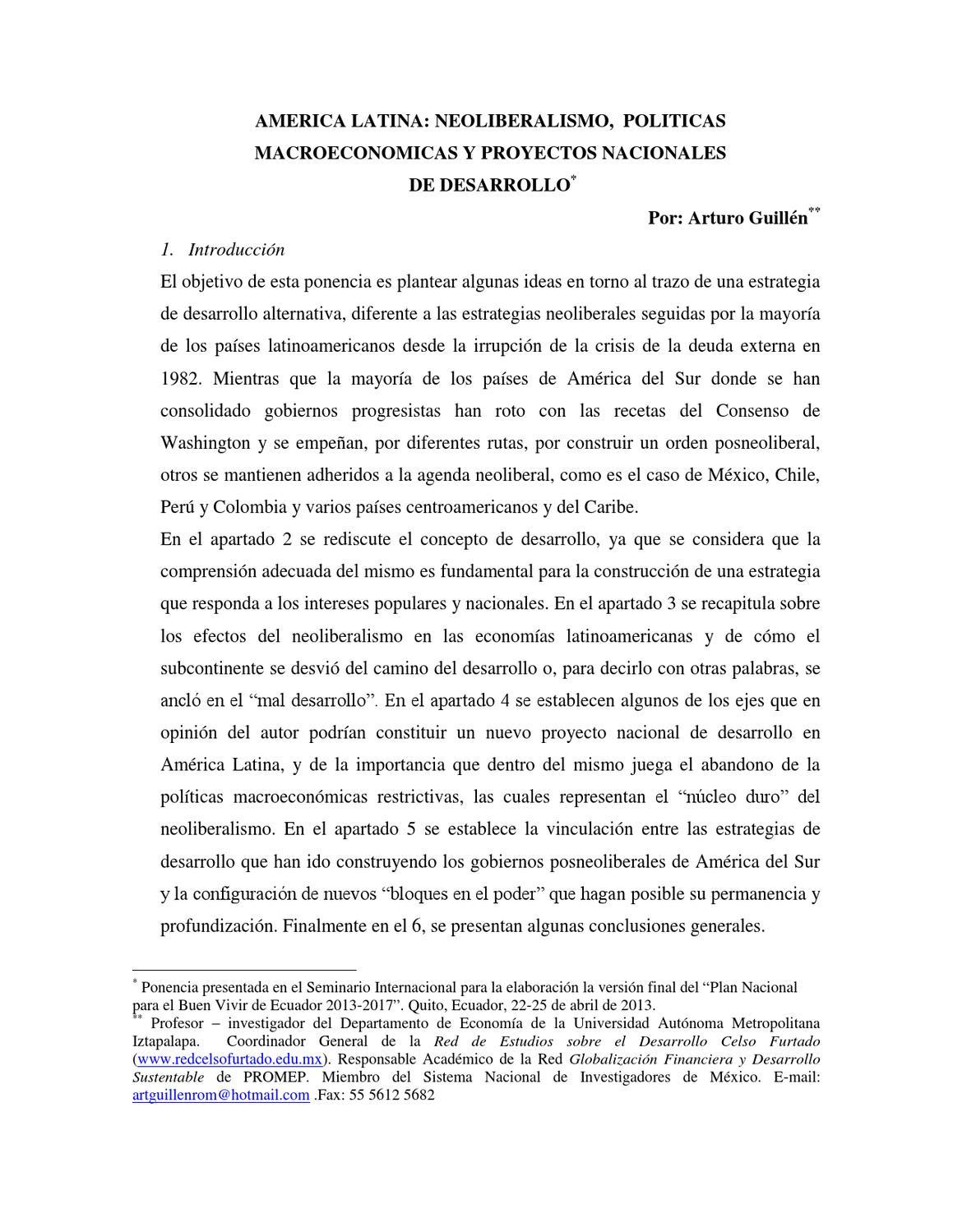 SEMINARIO INTERNACIONAL SOCIALISMO DEL BUEN VIVIR EN AMÉRICA LATINA ...