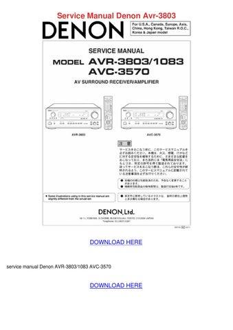 Service Manual Denon Avr 3803 by Suzanna Onishea - issuu
