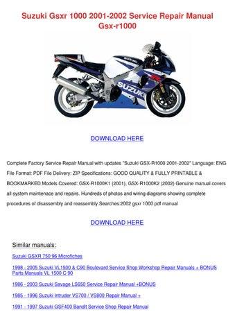 suzuki gsxr 1000 2001-2002 service repair manual gsx-r1000