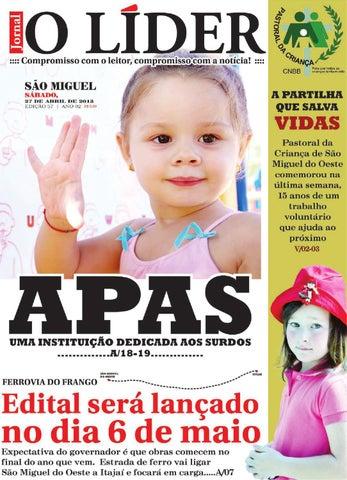 0ccaa19a38 Jornal O Líder SMO 26 04 2013 by Jornal O Líder - São Miguel do ...
