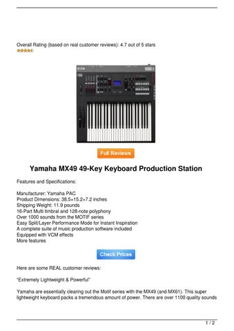 Sale!! Yamaha MX49 49-Key Keyboard Production Station by Kelly