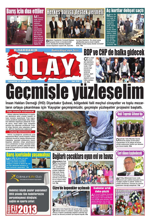 27 04 2013 Gazete Sayfalari By Diyarbakir Olaygazetesi Issuu