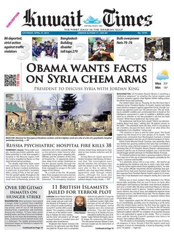 27 Apr 2013 By Kuwait Times Issuu