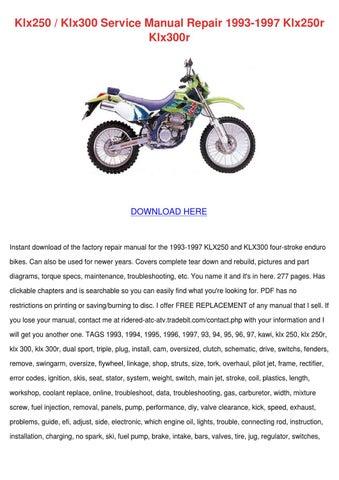 Klx250 Klx300 Service Manual Repair 1993 1997 By Mindy