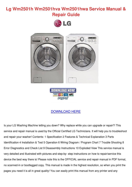 lg wm2501h wm2501hva wm2501hwa service manual by mindy lufsey issuu rh issuu com lg washer repair manual lg washer wm0642hw repair manual