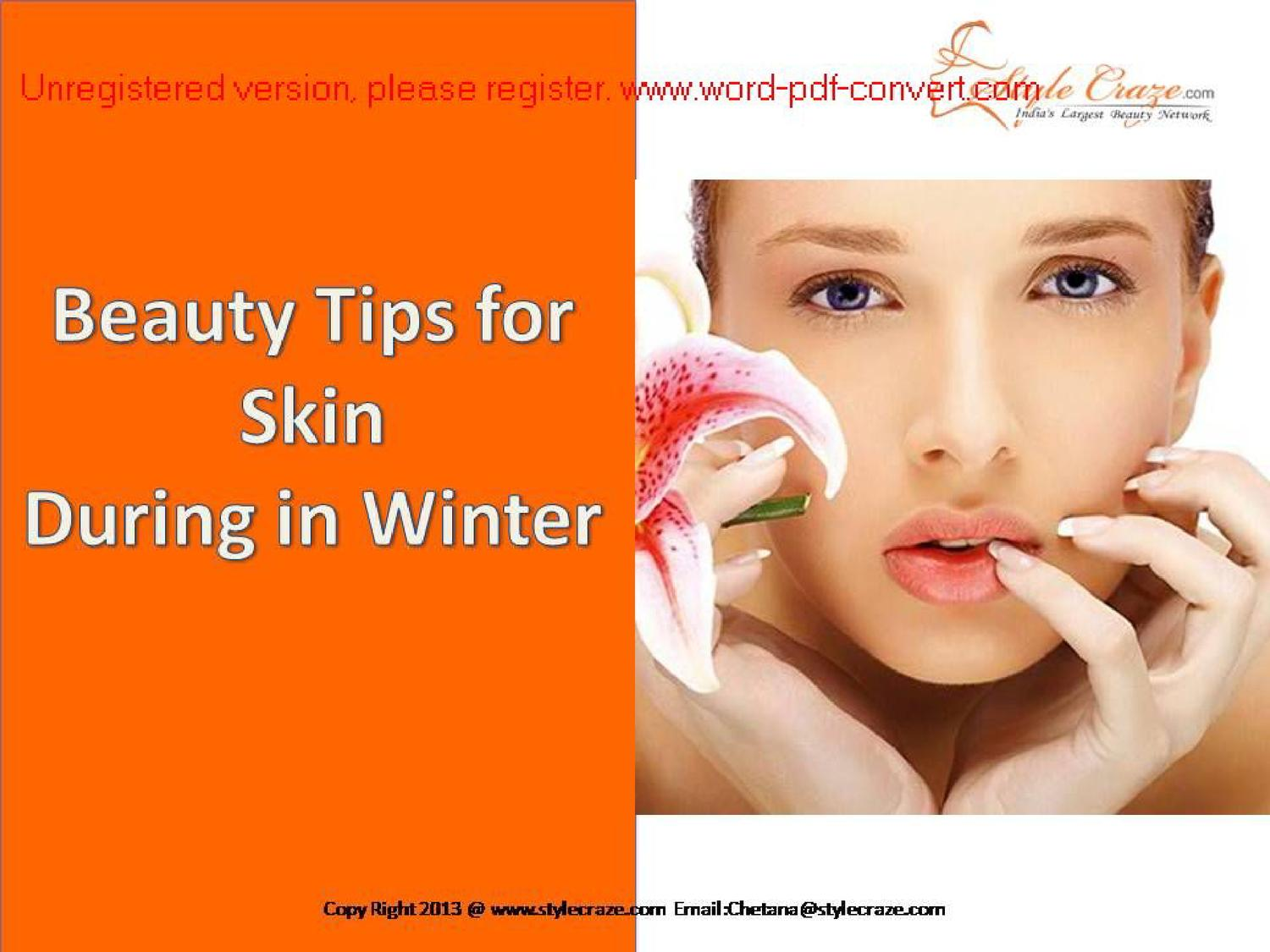 Beauty Tips for Skin During in Winter by Stylecraze Craze - issuu