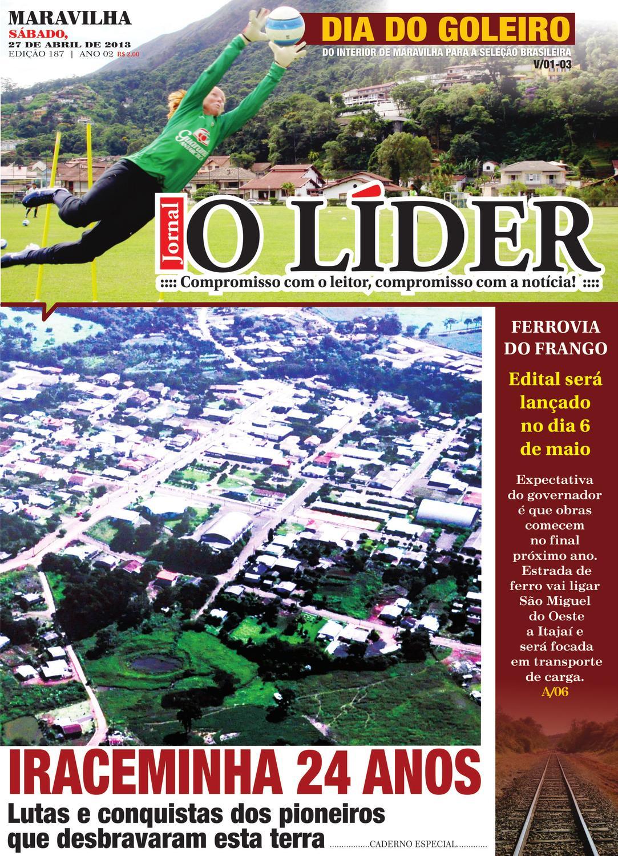 O Líder Maravilha 27 de Abril de 2013 by Jornal O Líder - São Miguel do  Oeste e Maravilha - issuu dd51b0457a113
